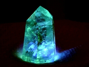 Blue glowing crystal